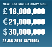 PLAYUKLOTTERY CURRENT ESTIMATE FOR 23 JAN 2010 (SATURDAY)