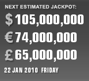 PLAYUSAMEGAMILLIONS CURRENT ESTIMATE FOR 22 JAN 2010 (FRIDAY)