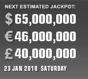 PLAYUSAPOWERBALL CURRENT ESTIMATE FOR 23 JAN 2010 (SATURDAY)